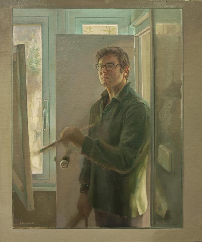 """Autorretrato Marzo-Abril de 2020"" Óleo/lienzo. 65x54 cm."